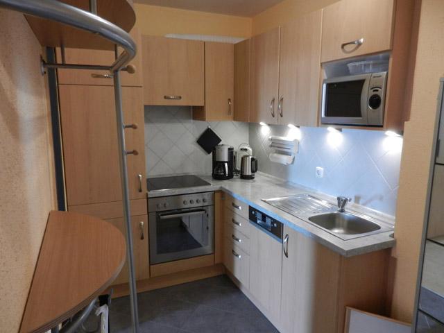 Flur und Küchenbereich der Ferienwohnung Grande Seiss am Südstrand von Fehmarn