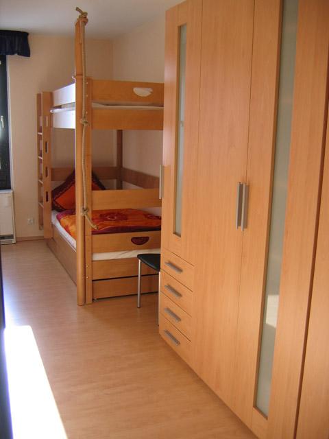 Kinderzimmer der Ferienwohnung Grande Seiss am Südstrand von Fehmarn