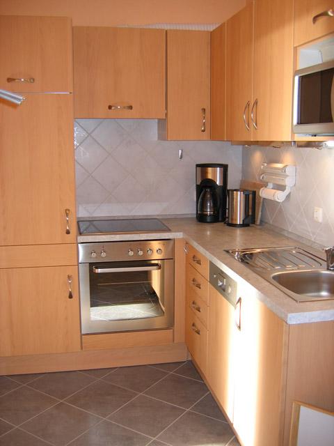 Küche in der Ferienwohnung Grande Seiss am Südstrand von Fehmarn