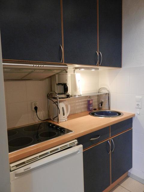 Küche der Ferienwohnung Piccolo Seiss am Südstrand von Fehmarn