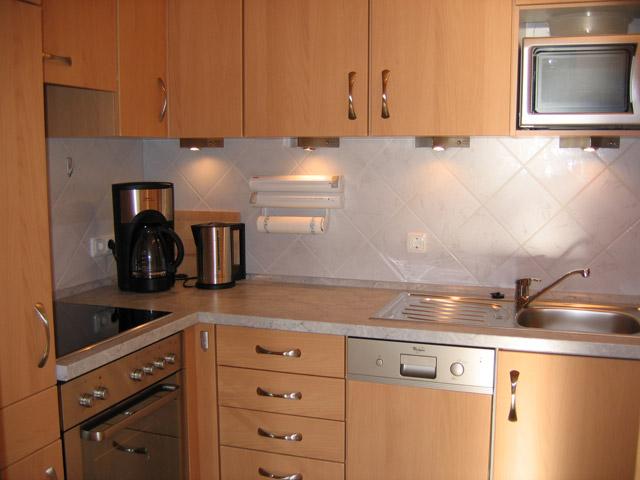 Große Küche in der Ferienwohnung Grande Seiss am Südstrand von Fehmarn