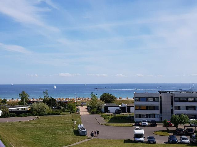 Blick aus der Ferienwohnung Grande am Südstrand von Fehmarn