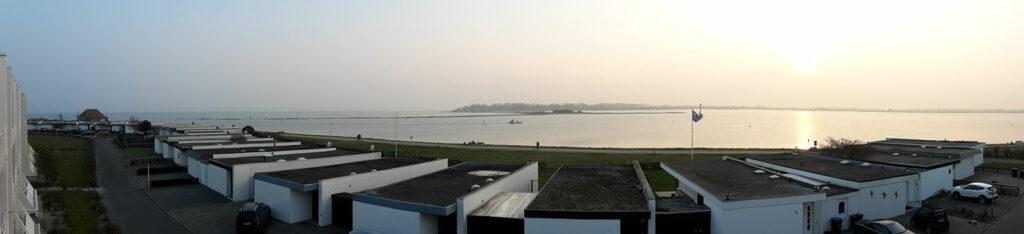 Panoramablick aus der Ferienwohnung Piccolo Seiss am Südstrand von Fehmarn
